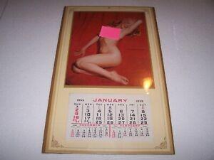 "1955 Marilyn Munroe Golden Dreams Calendar 10"" X 17"" Near Mint Reproduction?"