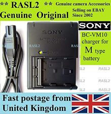 Genuine Sony BC-VM10 charger, NP-FM500H Alpha A57 A350 A500 A550 A700 A850 A200