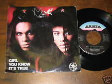 Milli Vanilli 80s R&B POP PICTURE SLEEVE 45 Girl You Kn