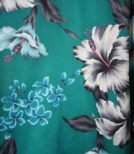 Jade Fashions XL Hawaiian Mens Aloha Camp Shirt Hibiscus Plumeria Flower EUC