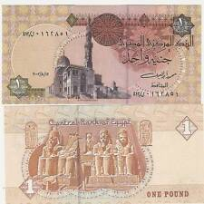 EGYPT 1 Pound Crisp UN Bank Note NEW 8/12/2002