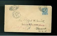 1904 Netherlands Holland perfin cover to USA