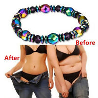 Weight Loss Multicolor Magnetic Bracelet Bead Hematite Stone for Therapy Health`