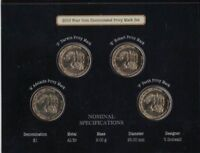 2010 100 Years of Australian Coinage - 4 Coin $1 UNC Privy Mark Set - RAM ADHP