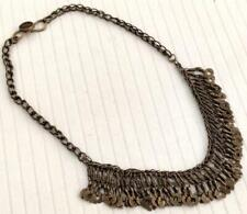 Boho Handmade STATEMENT Multi Strand Afghan Banjara Tribal Gypsy Chain Necklace