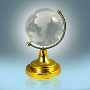 """2.5""""inch Glass Crystal Globe MINI WORLD/ Paperweight Desk Office Home Decor"""