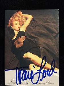 Traci Lords Signed Trading Card AUTOGRAPHED Tracy COA Cry Baby Frostbite Manhood