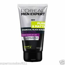 L'OREAL PARIS MEN EXPERT PURE & MATTE CHARCOAL BLACK SCRUB100ml/3.3oz