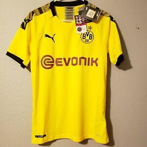 🐆Puma BVB Borussia Dortmund Mens Small Home Soccer Jersey 755737_01