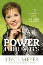 Power Thoughts 12 Strategies Christian Hardcover book by Joyce Meyer FREE SHIP