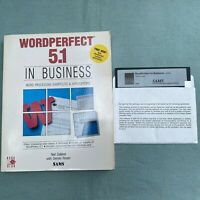 "WordPerfect 5.1 Business Vintage Computer Software 5.25"" Floppy 1991 Book SAMS"