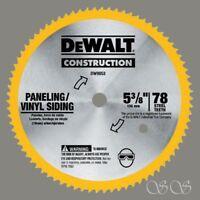 "DEWALT 5-3/8"" 80 Tooth Paneling&Vinyl Cutting Steel Saw Blade w/10 mm Arbor"