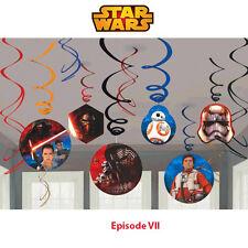 Star Wars Party Supplies SWIRL DECORATIONS Episode VII Genuine Lic NEW DESIGN