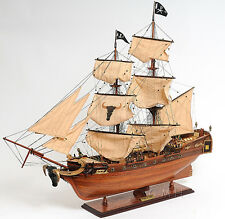 "Pirates of Caribbean Tall Ship 37"" Built Wooden Model Boat Assembled"