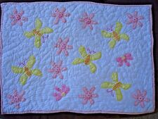 Pottery Barn Kids Pillow Sham Pink Yellow Butterflies