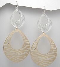 **Brand New ** Fashion Yellow Gold In Brass Earring