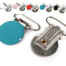 2-6 Hosenträgerclip Rund 25mm Durchzug - Hosenträger Schnullerkette Hosenträger