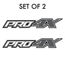 Set of 2: PRO-4X decal fits 2015-2019 Nissan Titan XD pickup truck bedside