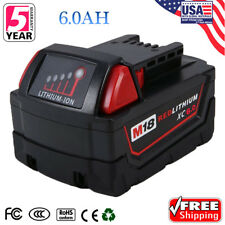 For 18V Milwaukee 48-11-1850 48-11-1852 XC 6.0 AH Battery M18 M18B Red Lithium