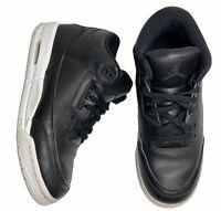 """2016 Nike Air Jordan Retro 3 Size 6.5Y """"Cyber Monday"""" Black White GS 398614-020"""