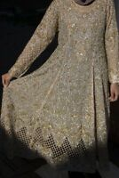 Asian Wedding Bridal Dress Lengha Walima Indian Pakistani Pink Gold Elegant 12