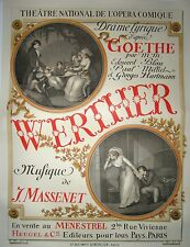 """Vintage French Opera """"Werther"""" Poster on Linen"""
