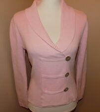CATO Womens Sweater Size Small Long Sleeve Pink  100% Cotton