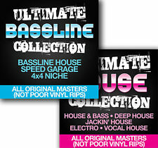 Ultimate Bassline Collection + Ultimate House Collection -  9 x DVD - 4000 tunes