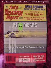 Auto Racing Digest October November 1984 RICK MEARS Kyle Petty Roger Penske