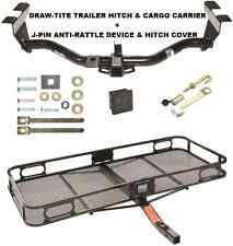 TRAILER HITCH + CARGO BASKET CARRIER + SILENT PIN LOCK TOW FOR 2000-06 MAZDA MPV