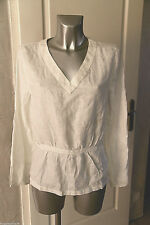 nice top tunic with tie in hemp TIMBERLAND t 42 fr D40 44i NEW LABEL