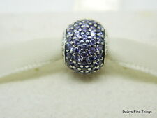 AUTHENTIC PANDORA CHARM PURPLE PAVE  #791051ACZ