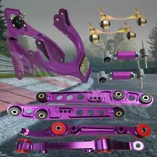 Purple Front Rear Lower Control Arm +Front Rear Camber Bushing Kit Integra 94-01