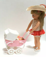 1965 Barbie Tutti Doll Set Original Clothes Shoes Hat Buggy Walkin My Dolly Vtg