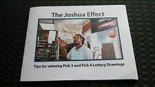 The Joshua Effect: TIPS FOR WINNING PICK 3 AND PICK 4 LOTTERY DRAWINGS
