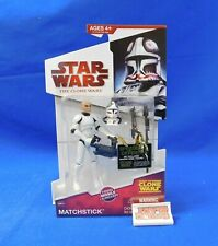 Matchstick CW34 Figure Star Wars The Clone Wars 2009 Hasbro New on Card