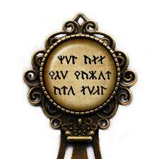"""J.R.R. Tolkien """"Not all those who wander are lost."""" Dwarf Runes Bookmark"""
