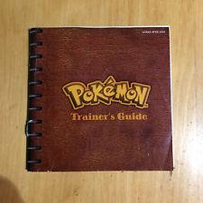 Nintendo Gameboy Manual - Pokemon Blue Trainers Guide USA Version