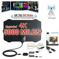 5000 Mile Digital Antenna TV Aerial Indoor HDTV HD Freeview Signal Booster UK .W