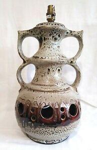 Huge Mid Century West German Fat Lava Lamp Pottery Ceramic Retro Fantastic Glaze