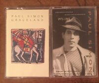 2 Paul Simon Cassettes Graceland/ Negotiations And Love Songs 1971-1986