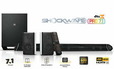 "Nakamichi Shockwafe  (PRO71DTSX)  8"" Wireless Speaker system - Black"