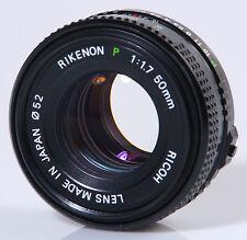 OBJECTIF PENTAX K : RICOH RIKENON P 1,7/50mm PENTAX K