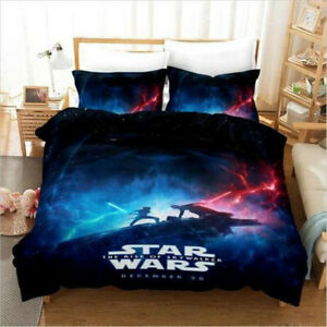 3D Star Wars Single/Double/Queen/King Size Bed Quilt/Doona/Duvet Cover Set Linen
