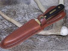 Old Timer Schrade Hunting Boot Knife Dagger W/ Sheath Case !