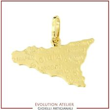 Ciondolo in oro Sicilia in oro giallo 18kt
