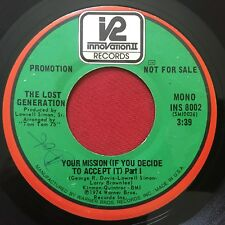 THE LOST GENERATION ~ YOUR MISSION (IF YOU DECIDE TO ACCEPT IT) SOUL 45 PROMO