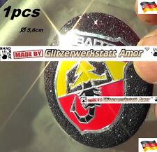 1pcs Auto KFZ Car Lenkrad Plakette Aufkleber >Crazy Glitzer Einzelstück by Amor*