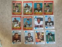 Topps 1971-1978 Cleveland Browns 20 Card Lot