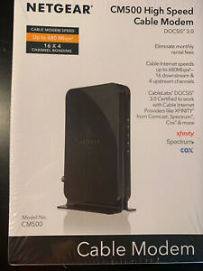 NEW Netgear High-Speed Cable Modem DOCSIS 3.0 680Mbps Download Speed Black